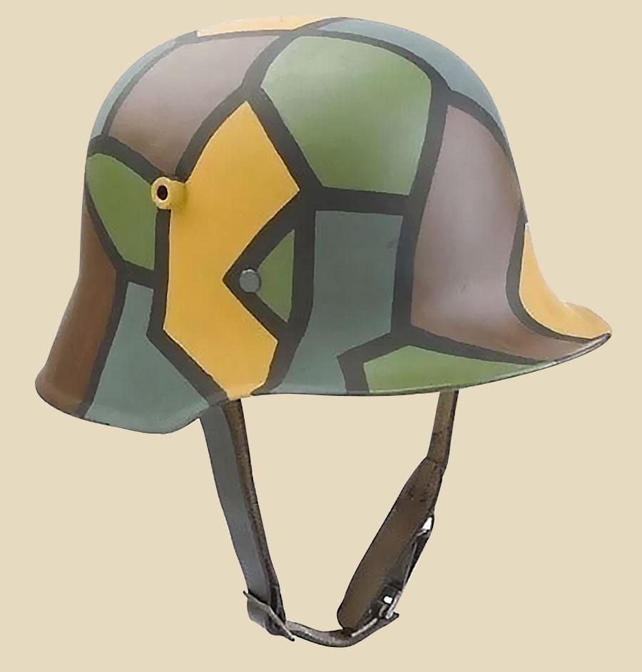 Camoflauged WWI Helmet