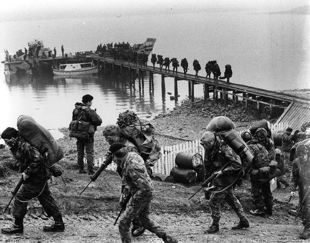 British Troops in the Falklands wearing DPM