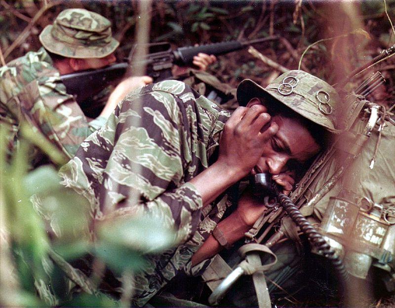 US Soldier wearing Tigerstripe