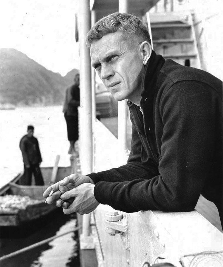 Steve McQueen wearing a CPO shirt