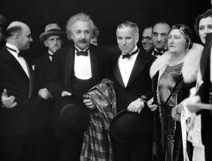 Einstein And Chaplin In Black Tie
