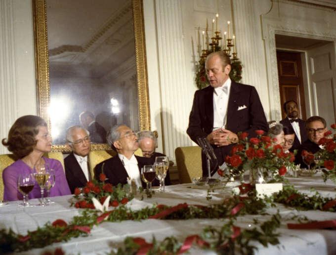 Hirohito Gerald Ford White Tie01