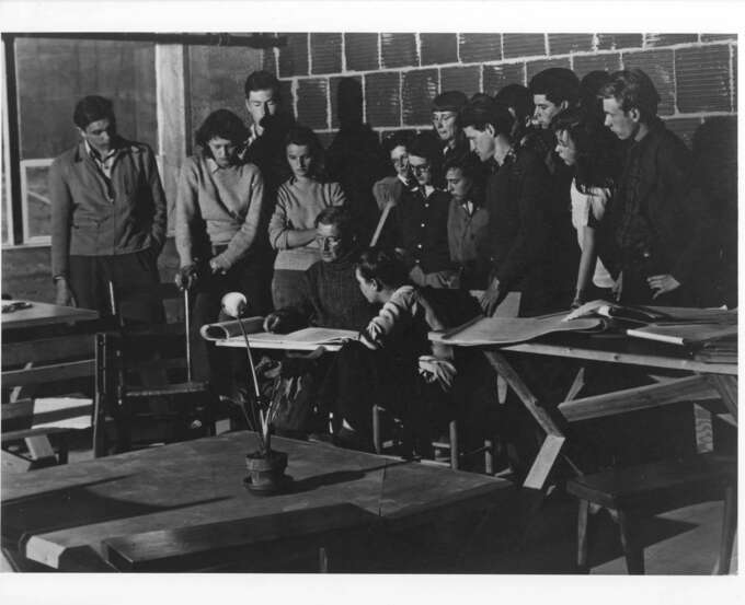 Josef Albers Drawing Class Black Mountain College