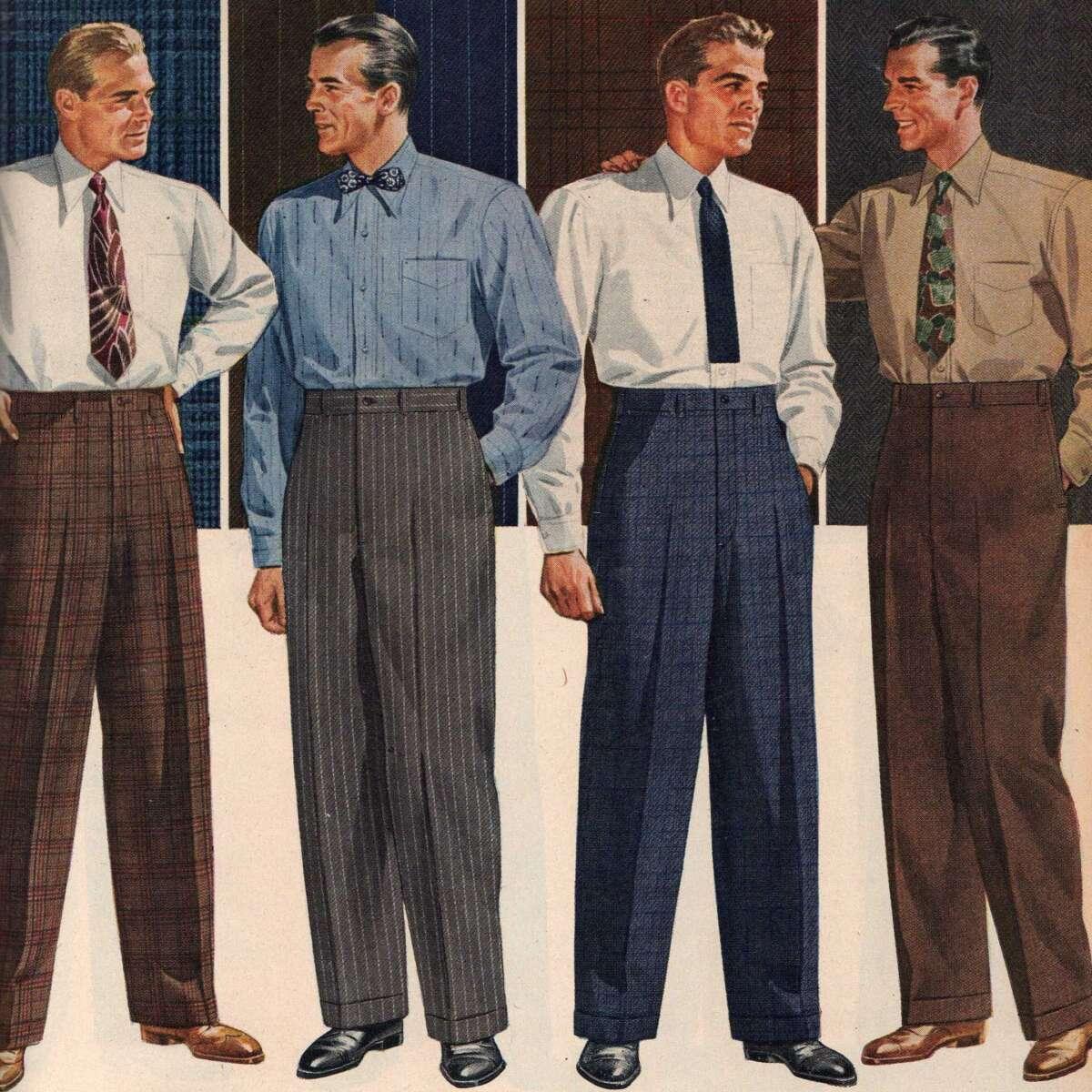 1944 Mens Dress Trousers Pants Sears Cut
